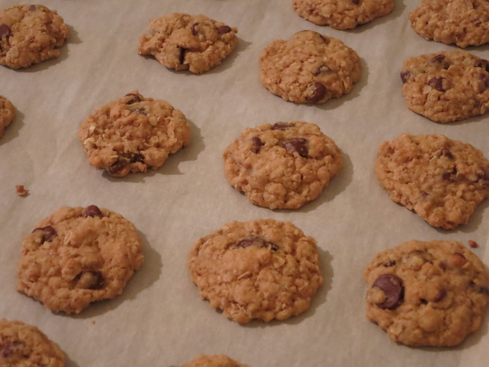 out of the oven...cowboy cookies
