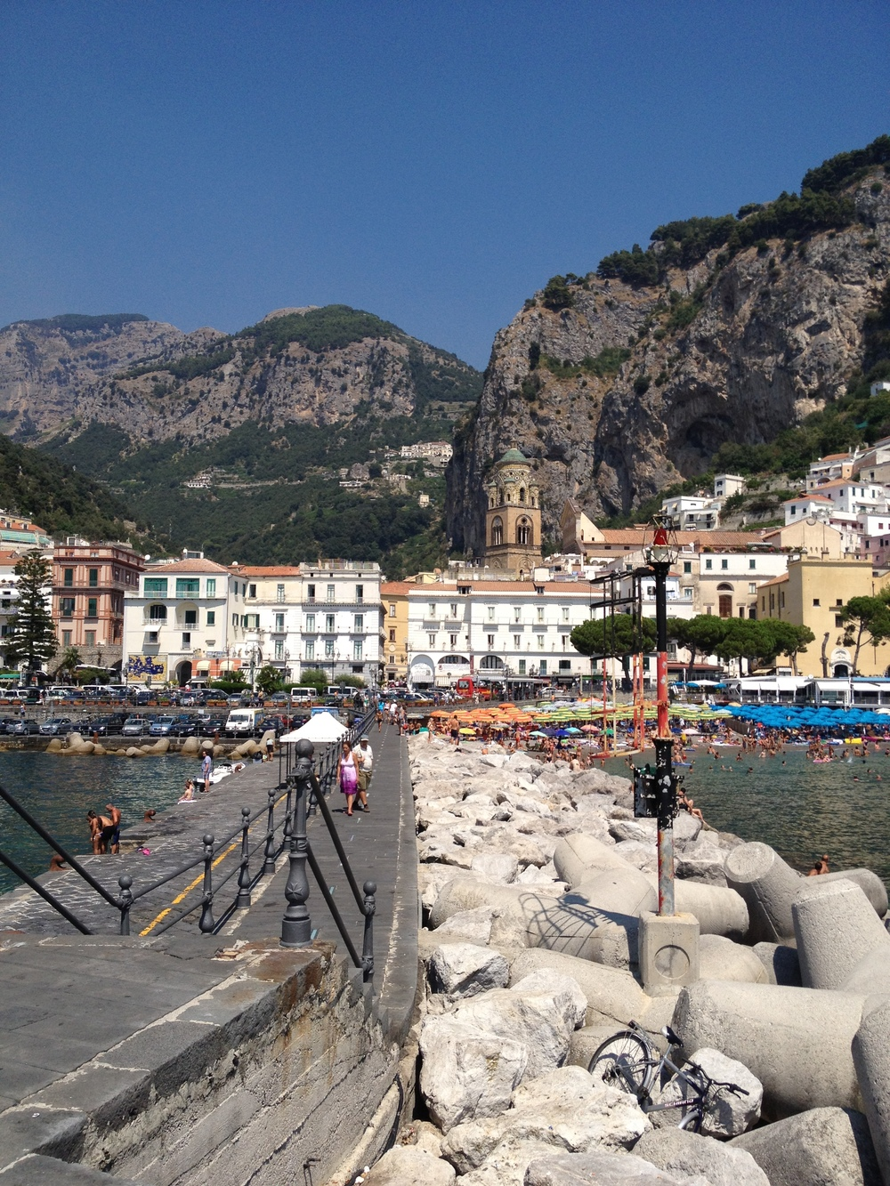 View of Amalfi from it's dock