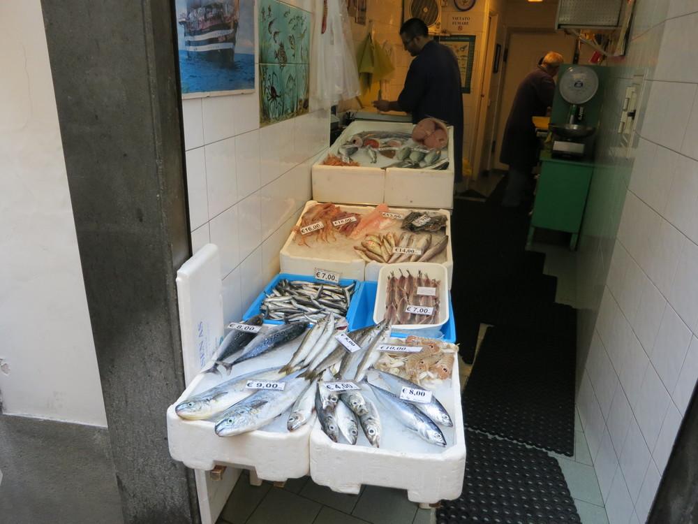 Fish market in Amalfi