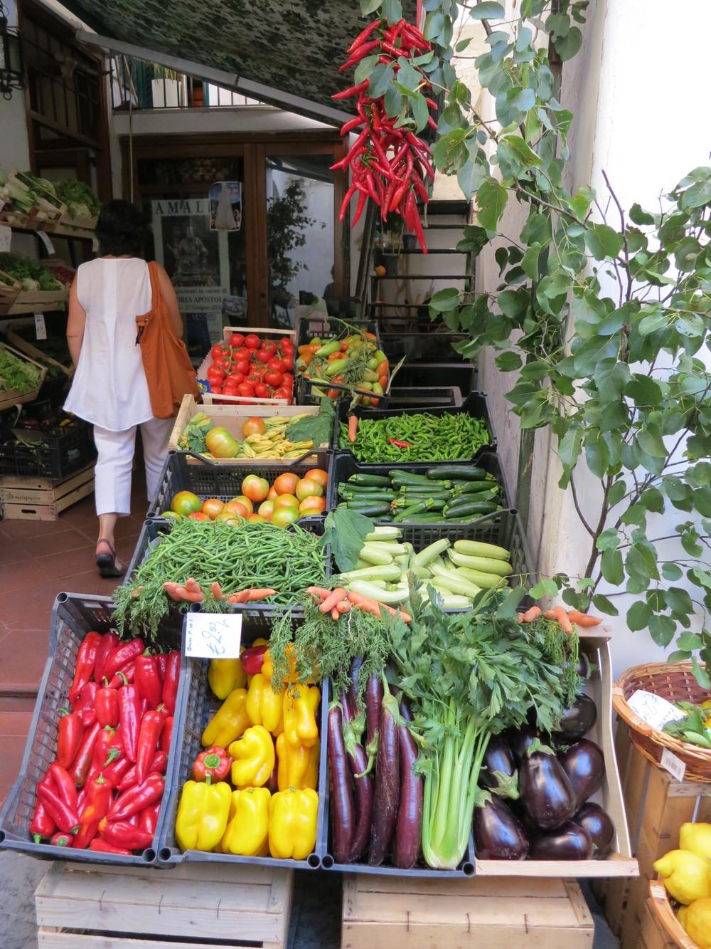 Produce market in Amalfi