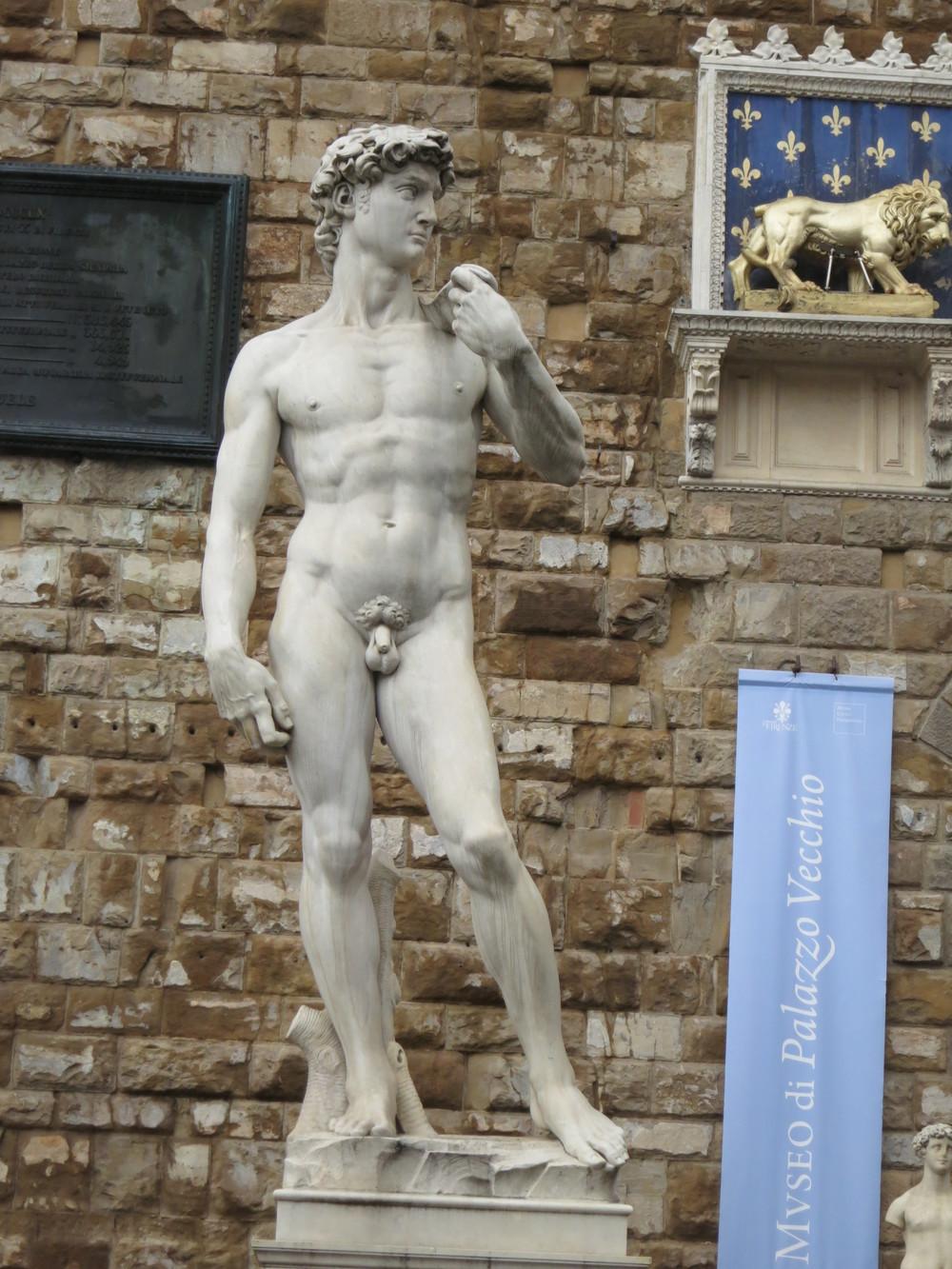 Replica of David at Palazzo Vecchio