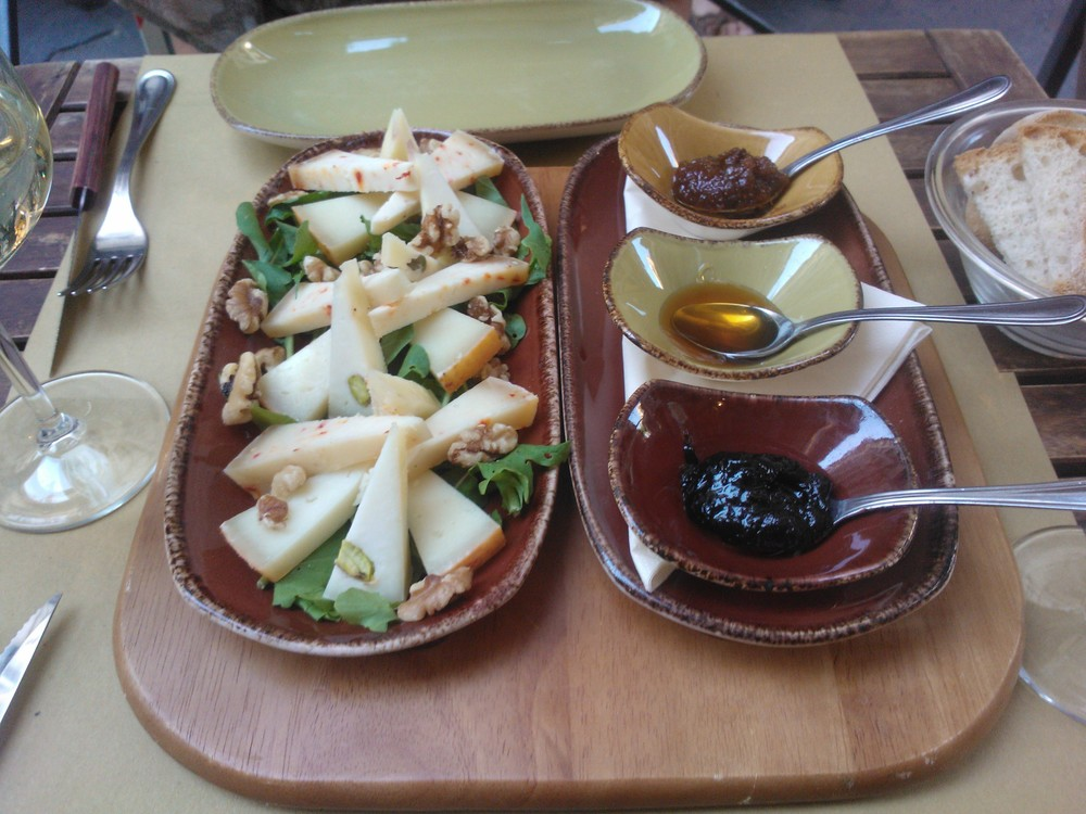 Cheese platter from La Cantinetta Osteria con Cucina