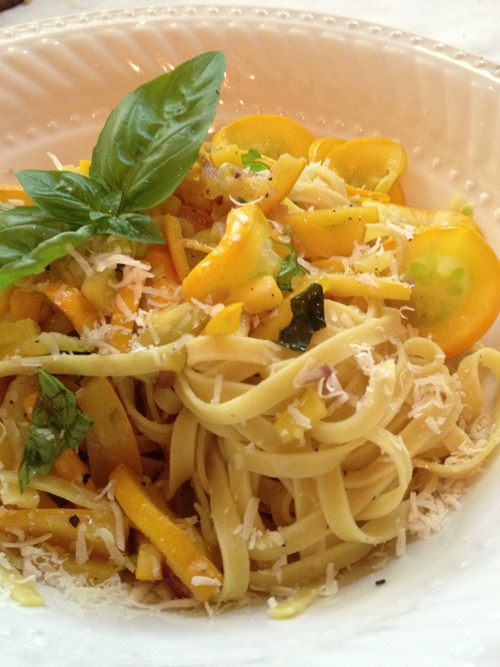 Linguine with Squash