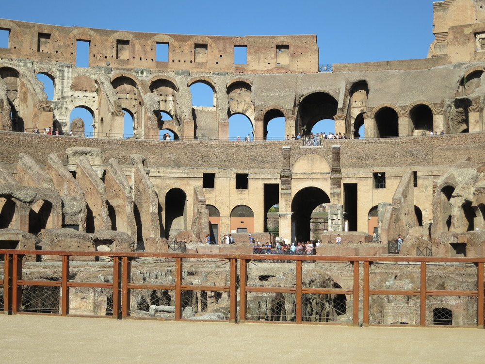 Inside the Colosseum- Rome, Italy