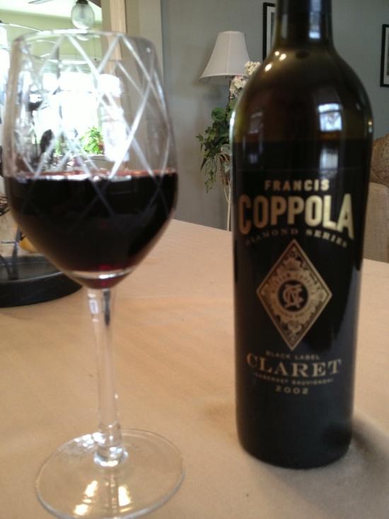 Bottle of Coppola Cabernet Sauvignon