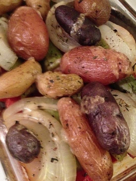 Rustic roasted vegetables