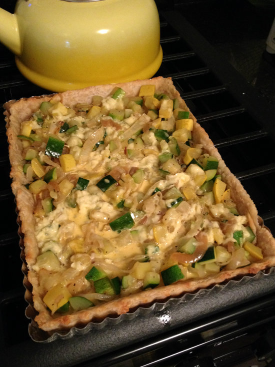 Summer squash tart - filled