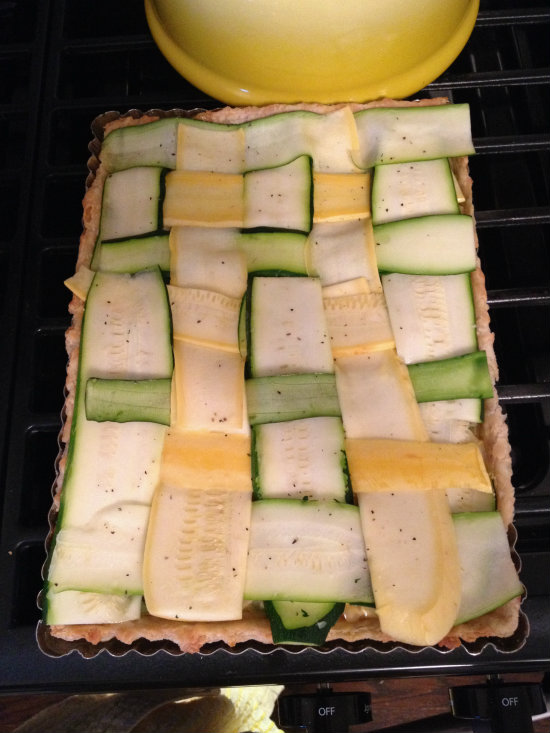 Squash Tart lattice top-prebake