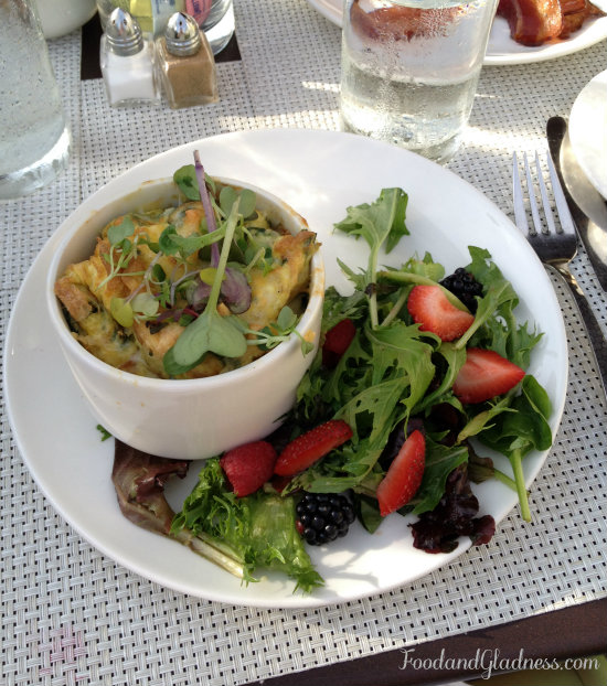 Baked Eggs with side salad from Cafe Osage in Bowood Farms CWE
