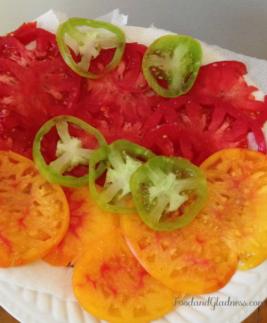 Tomatoes On Plate food and gladness