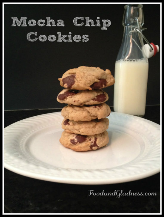 Mocha chip cookies food and gladness