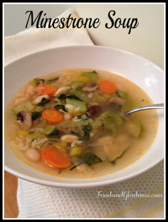 Minestrone Soup Food and Gladness