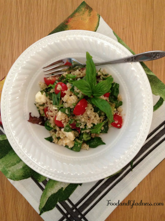 Quinoa Caprese Salad food and gladness