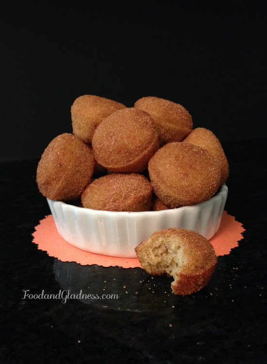 Baked pumpkin donut bites food and gladness
