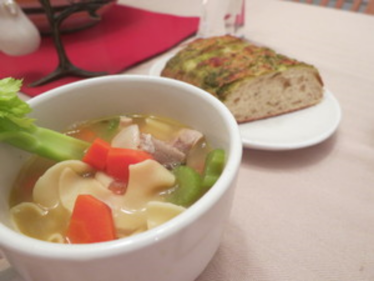 Turkey Noodle Soup food and gladness