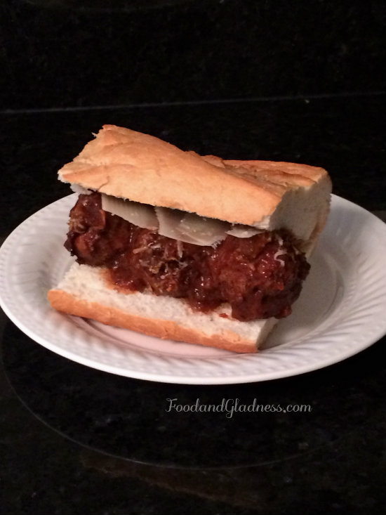 Italian meatball sandwich food and gladness