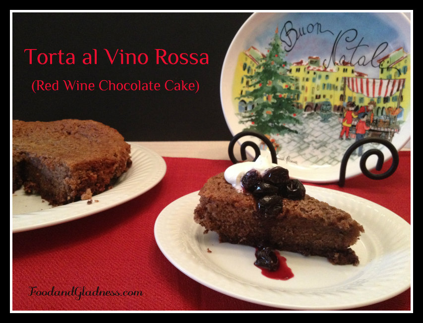 Red Wine Chocolate Cake (torta al vino rossa)