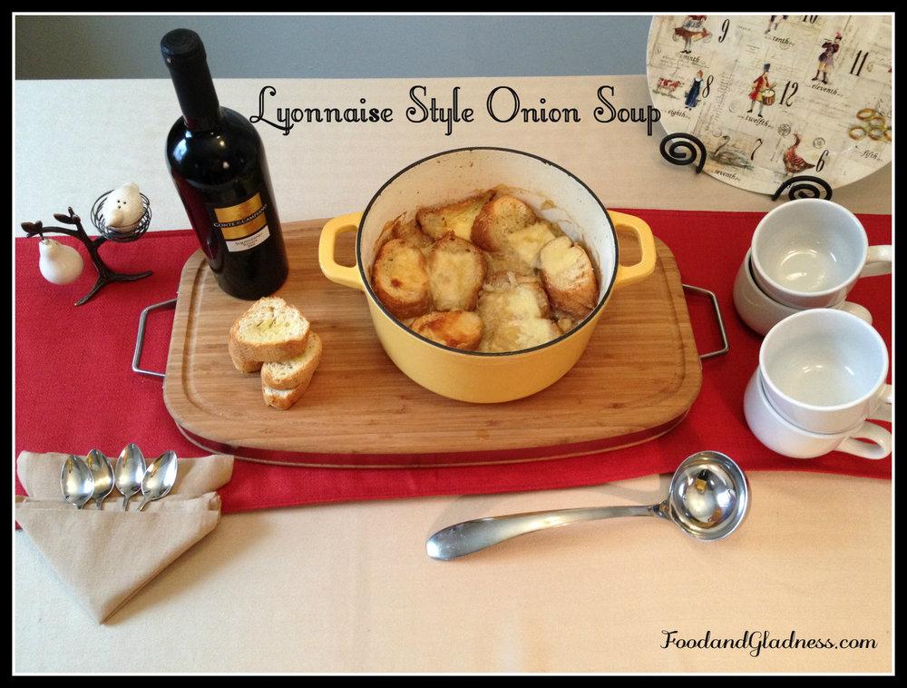 Lyonnaise style onion soup