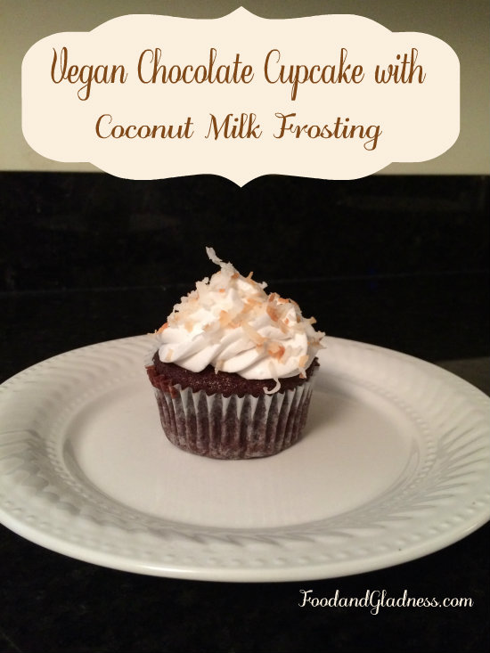 Vegan Chocolate Cupcake with Coconut Milk Frosting Food and Gladness