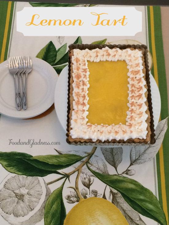 Lemon Tart food and gladness