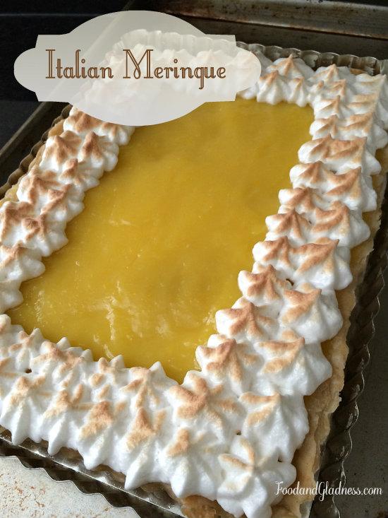 italian meringue food and gladness