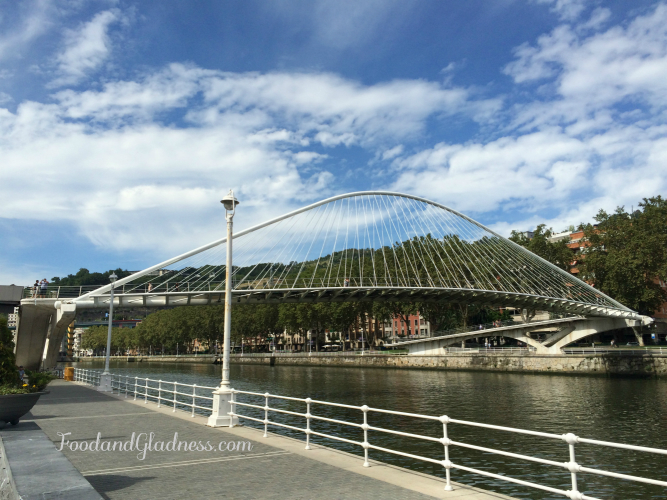 Zubizuri (White bridge) in Bilbao, Spain