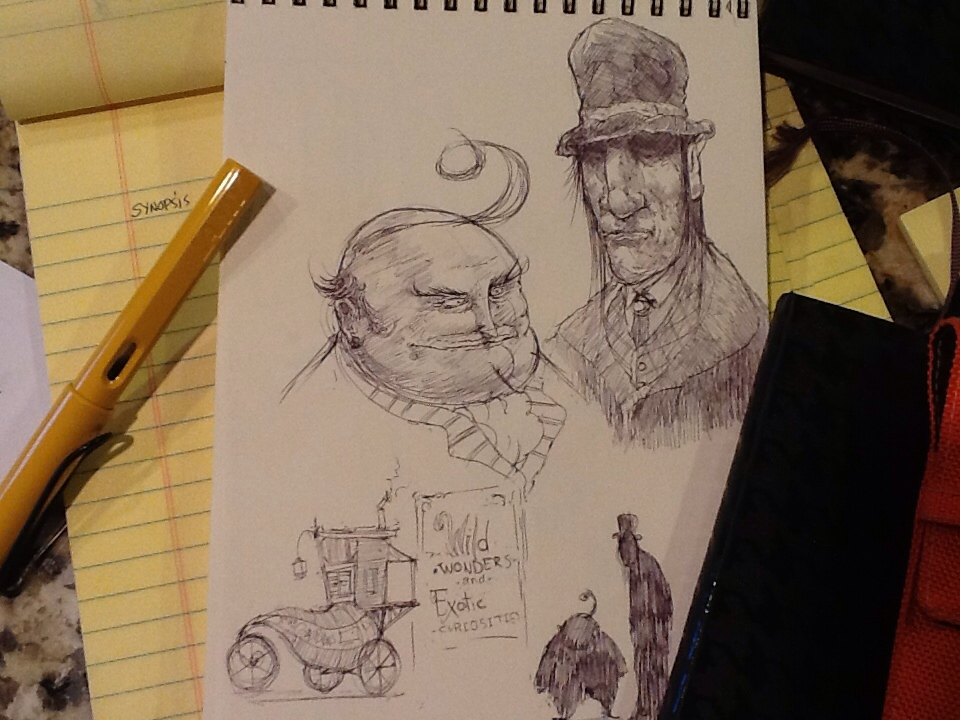Concept art from the Conjurers novel.