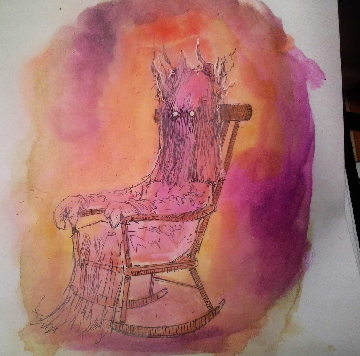 The Story Chair. Inktober.