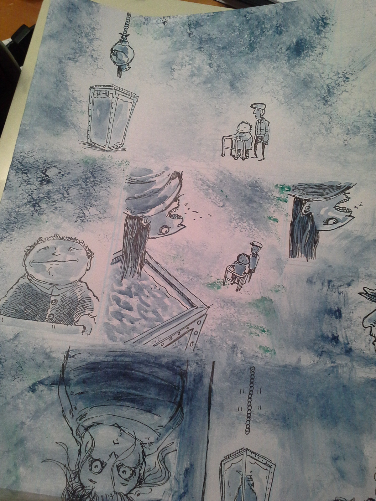 painting comics