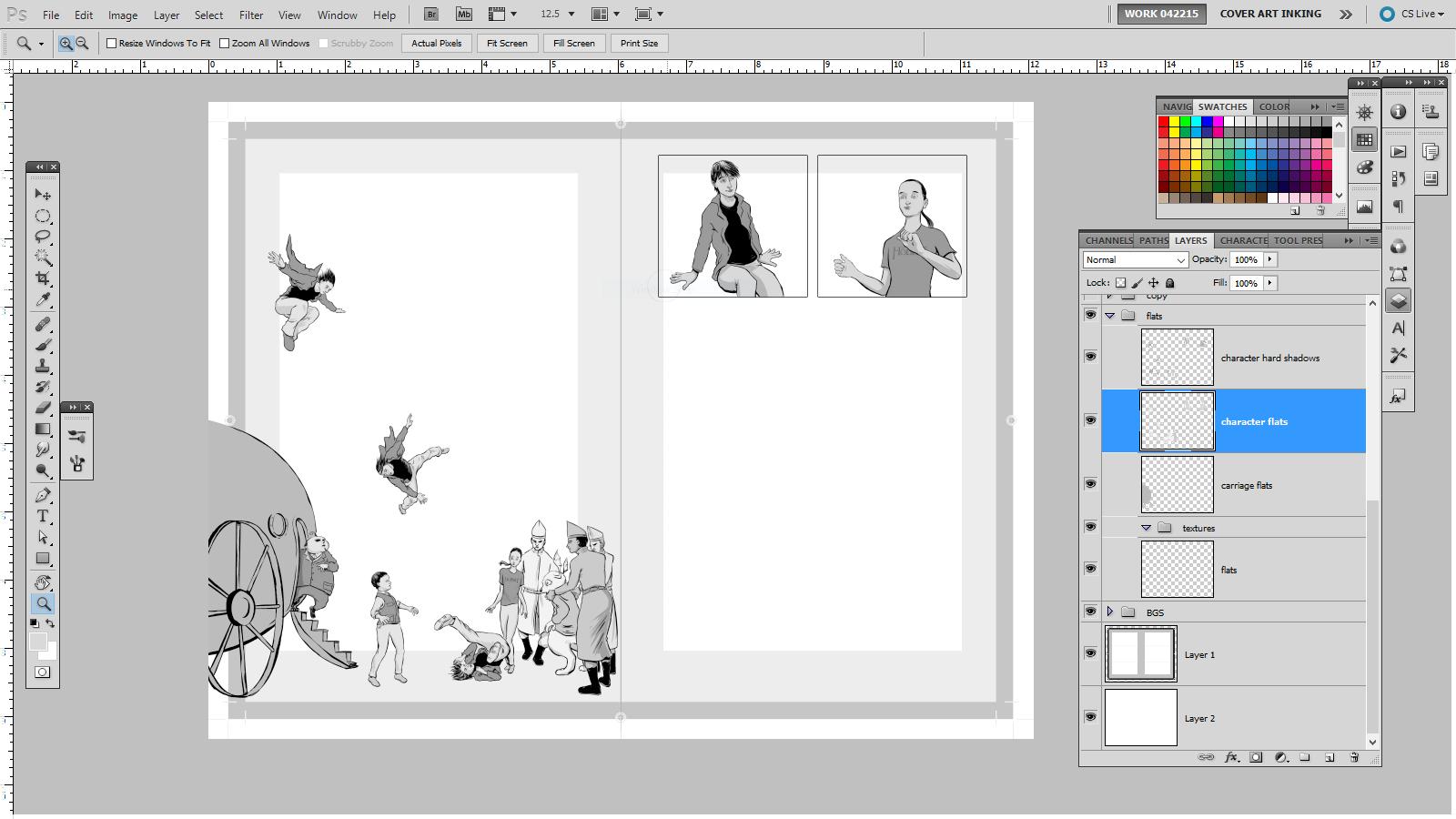 Novel illustration process.