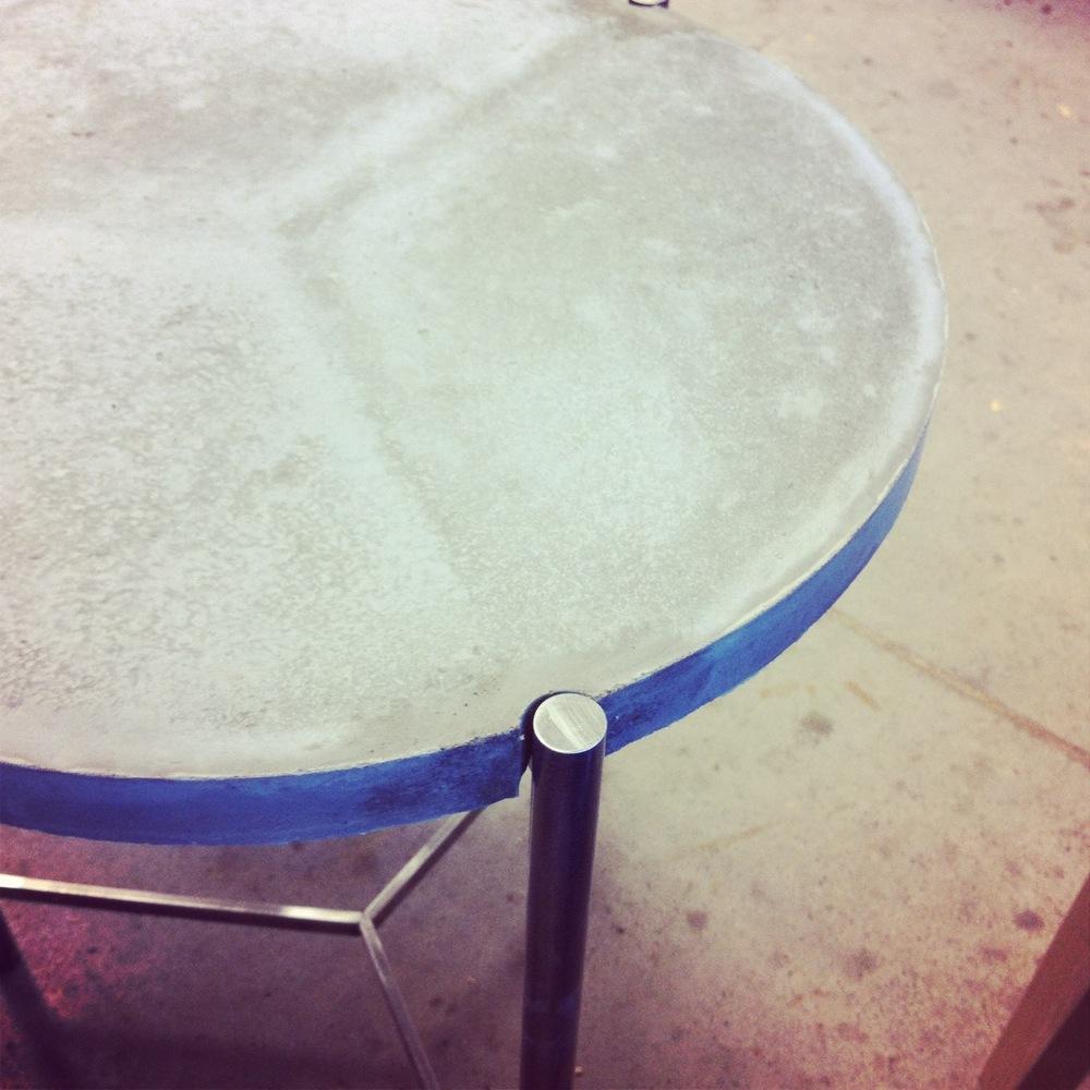 concrete tabletop detail