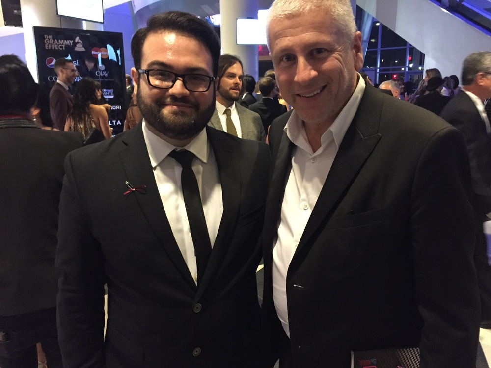 Myself & Louie Giglio at the GRAMMY® Awards (Photocred: Shelley Giglio)