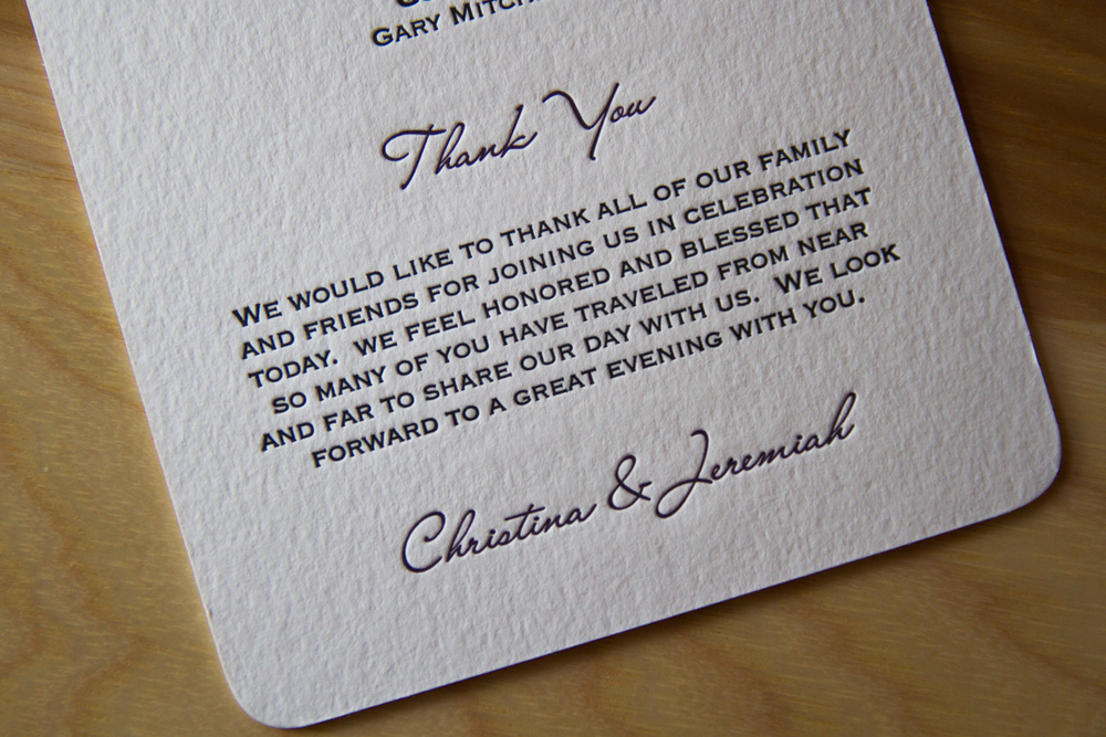 Thank You Letter For Wedding Guests: Get With The Program