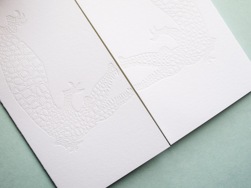 Alligator Letterpress Gate Fold