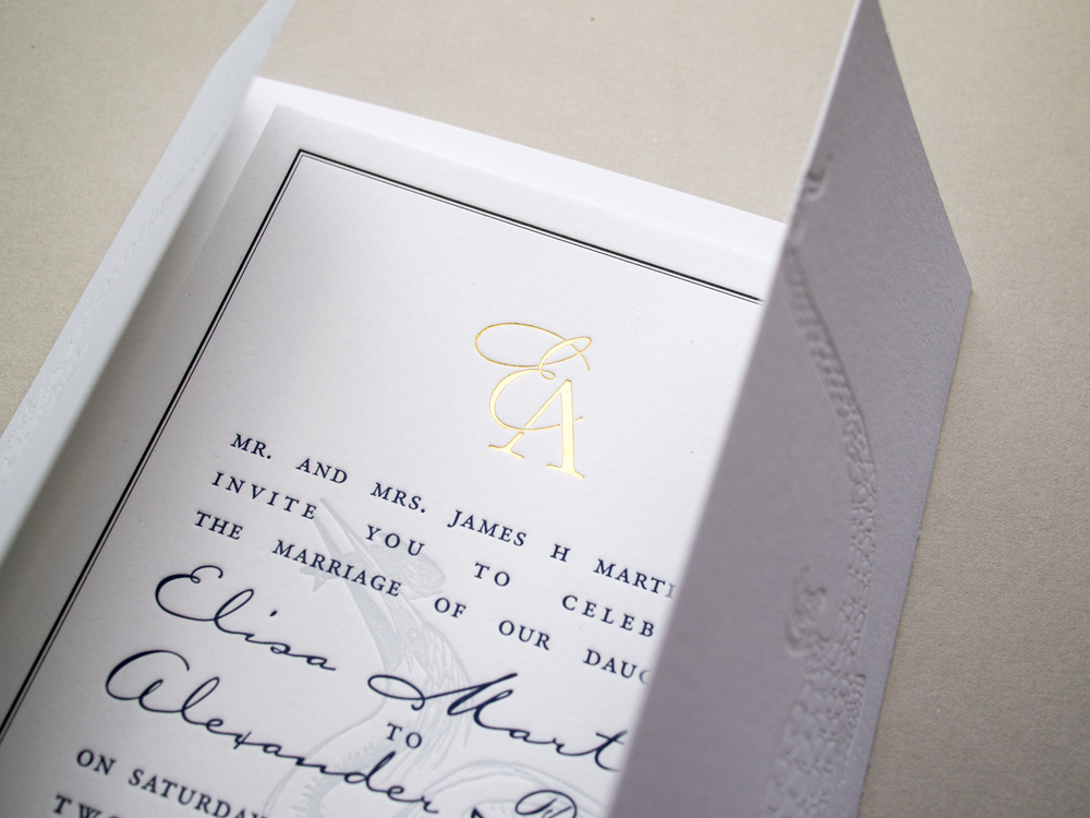Letterpress + Foil Invitation With Gate Fold