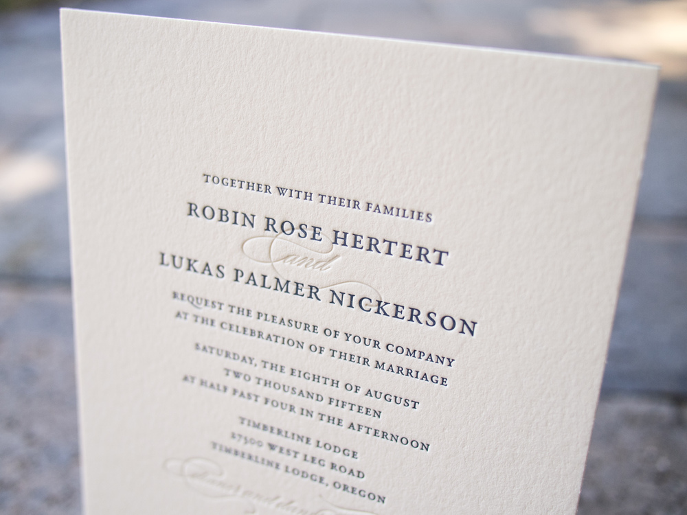 Letterpress Invitation