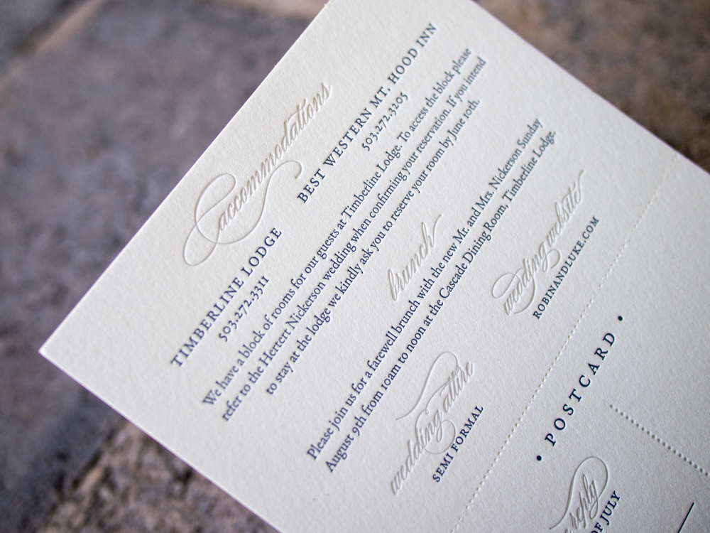 Letterpress Tear-Off Reply Card