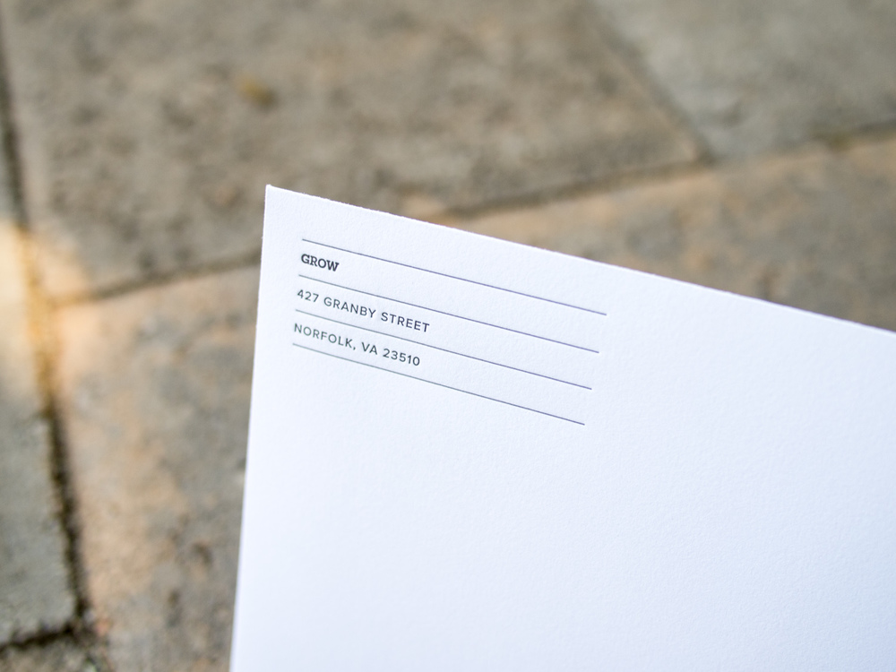 Letterpress Envelope