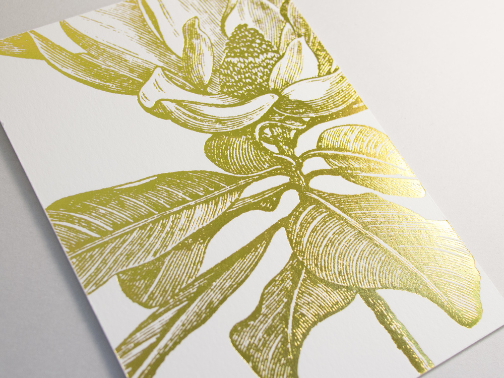 Gold Foil Botanical Invitation