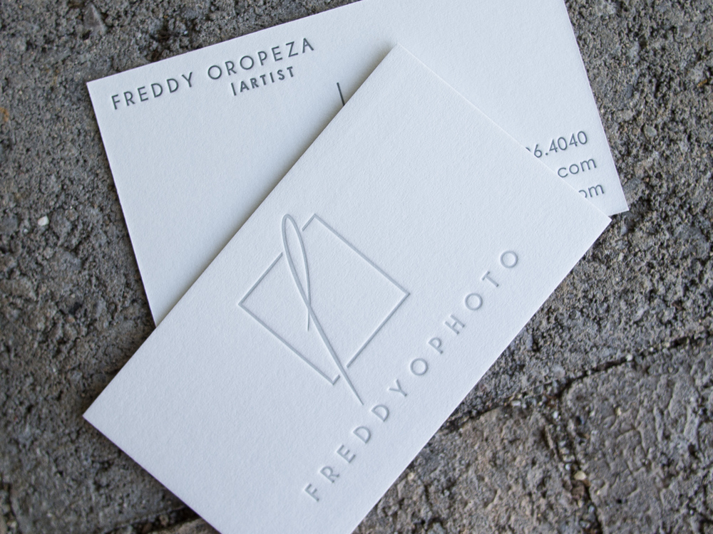Gray Letterpress Business Card