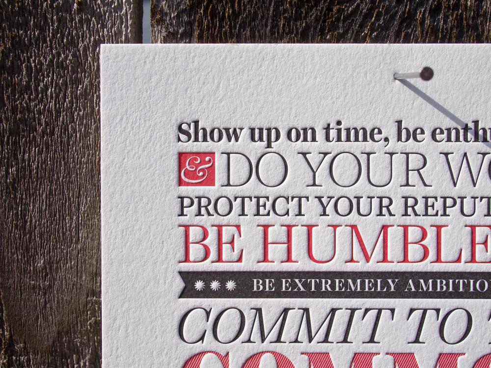 Letterpress Poster Detail