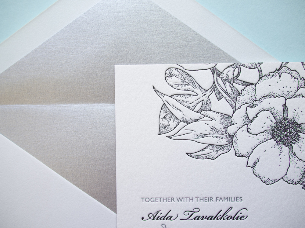Blossom Invitation and Envelope Liner