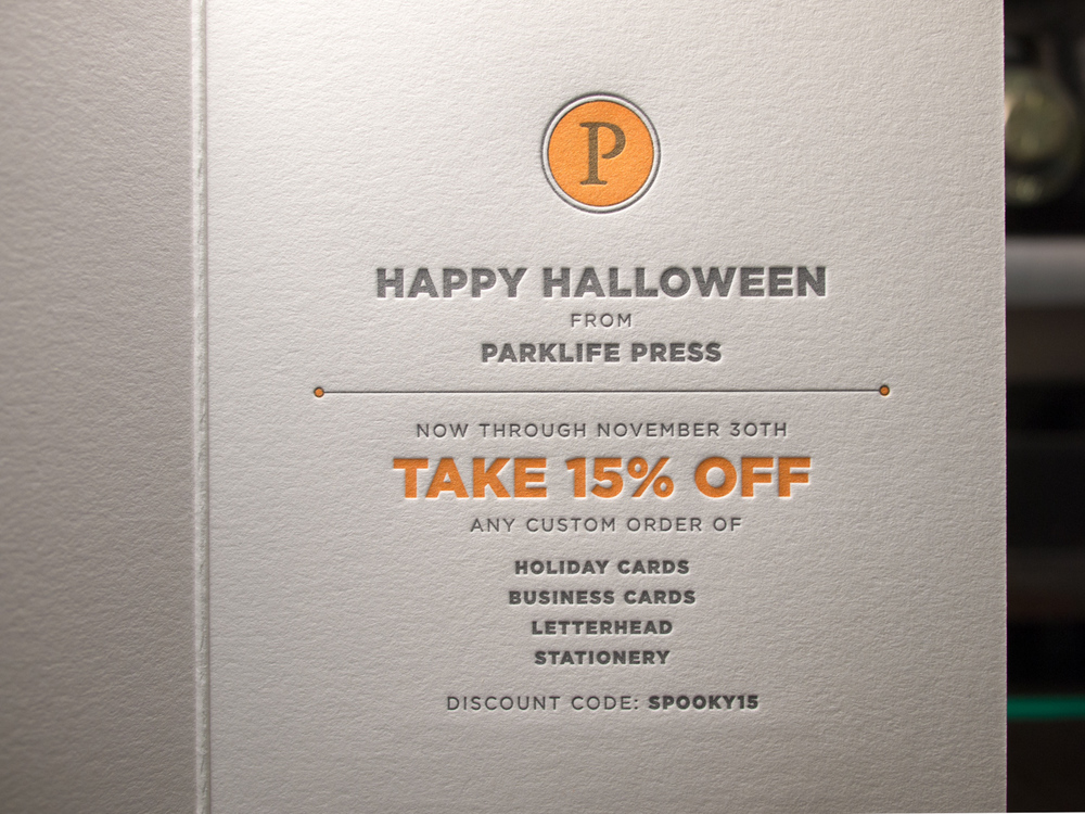 Halloween Letterpress Sale