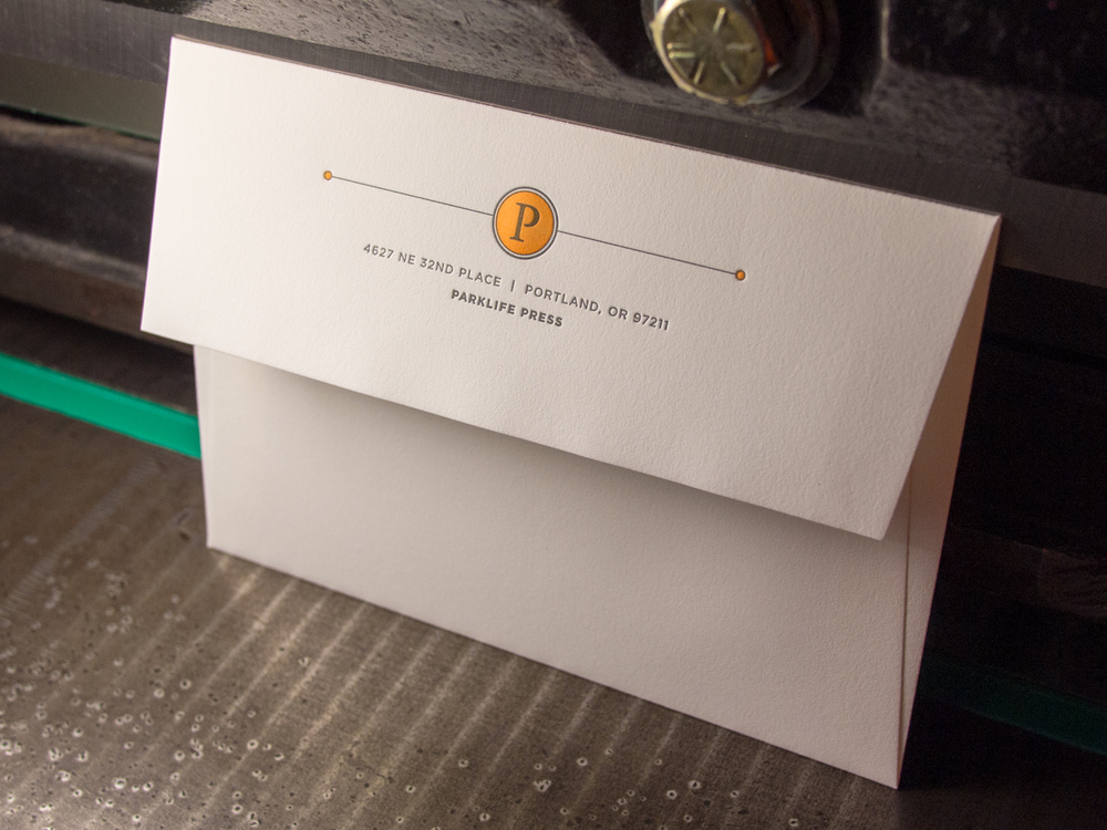 Halloween Letterpress Envelope
