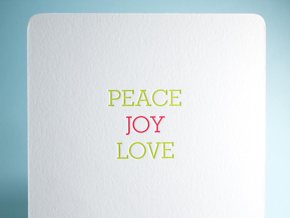Letterpress Holiday Card