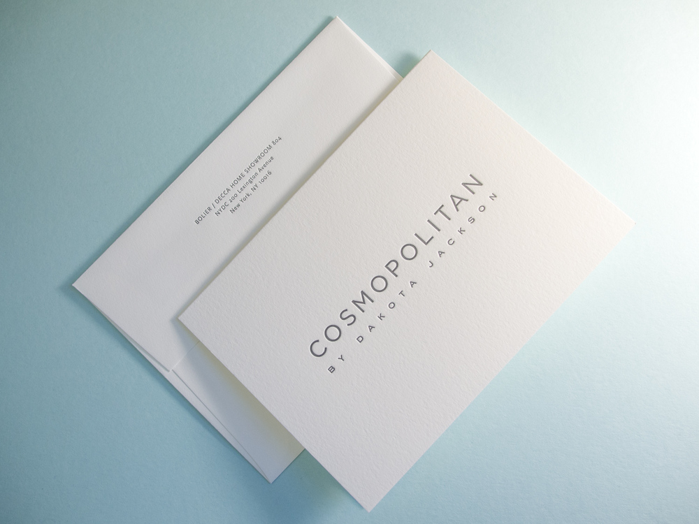 Letterpress Card & Envelope