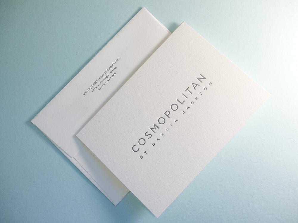 Letterpress Card & Envelope
