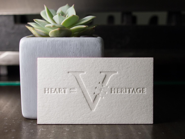Business Cards for Virile Heart & Heritage — the Parklife Blog