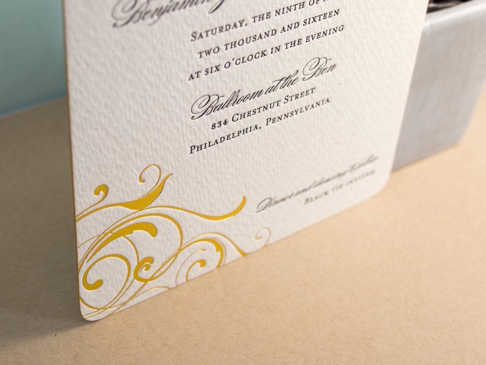 Letterpress Gold Foil