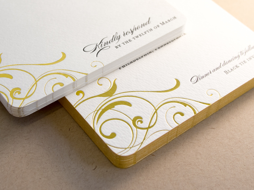 Gold Foil Invitation Set